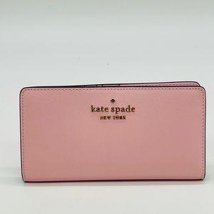 Kate Spade Staci Large Slim Bifold Wallet Light Crepe